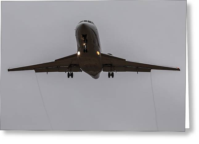 Aircraft Artist Greeting Cards - Falcon Trails Greeting Card by John Daly