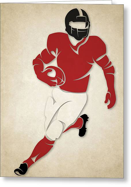 Falcons Greeting Cards - Falcons Shadow Player Greeting Card by Joe Hamilton