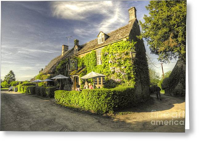 Falklands Greeting Cards - Falkland Arms  Greeting Card by Rob Hawkins