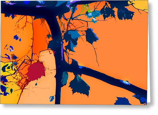 Fall Abstraction 5-2013 Greeting Card by John Lautermilch
