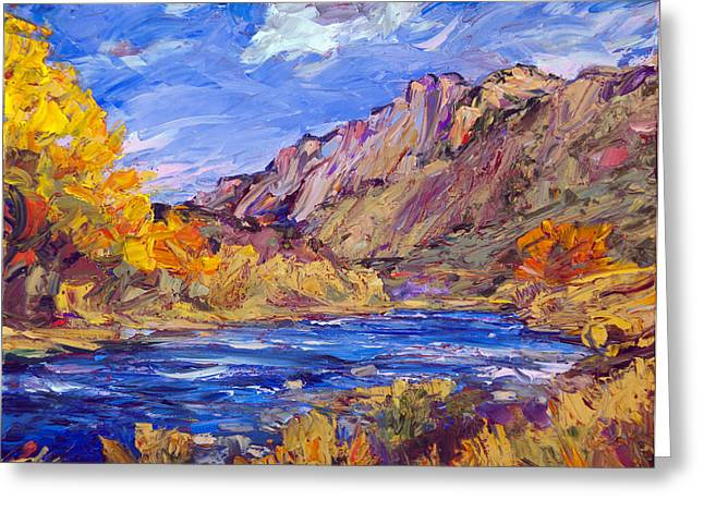 Fall Along The Rio Grande Greeting Card by Steven Boone