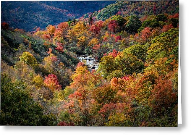 Appalachia Greeting Cards - Fall and Falls Greeting Card by John Haldane