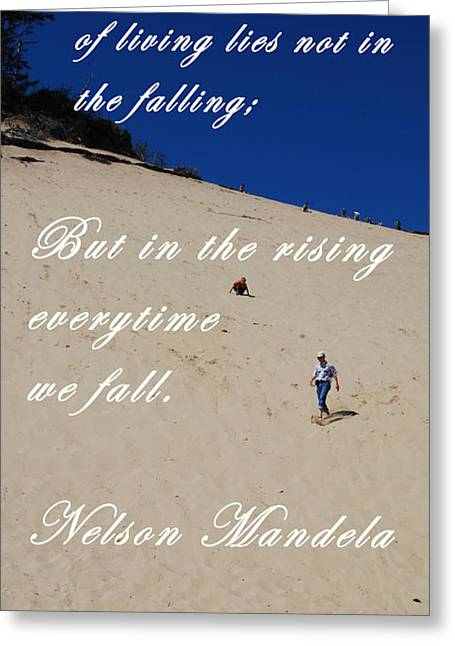 Recently Sold -  - Motivational Poster Greeting Cards - Fall and Rise Greeting Card by Sharon Elliott