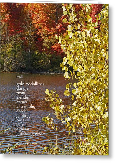 Texting Greeting Cards - Fall Greeting Card by Ann Horn