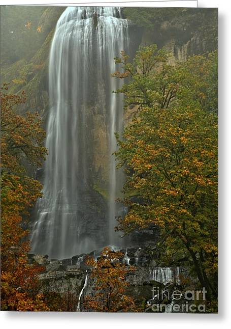 Silver Falls Greeting Cards - Fall At Silver Falls Greeting Card by Adam Jewell