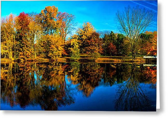 Woodbury Greeting Cards - Fall at Stewart Lake Greeting Card by Nick Zelinsky