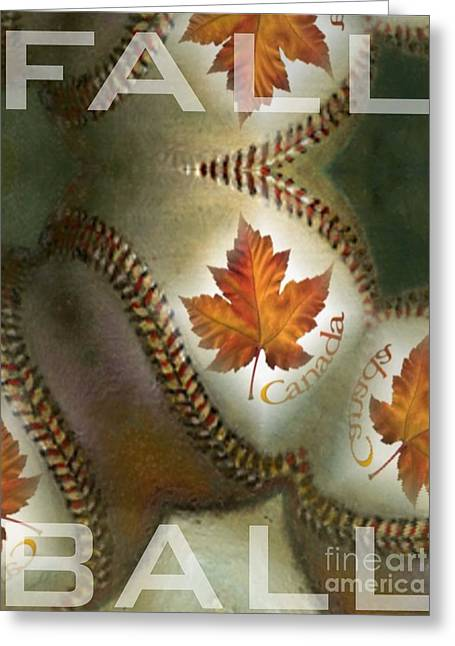 Magissimo Greeting Cards - Fall Ball Greeting Card by Maria Watt
