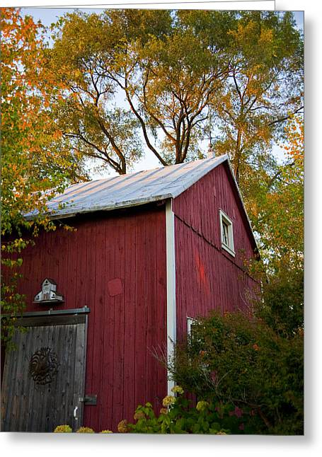 Wisconsin Barn Greeting Cards - Fall Barn Greeting Card by Jeff Klingler