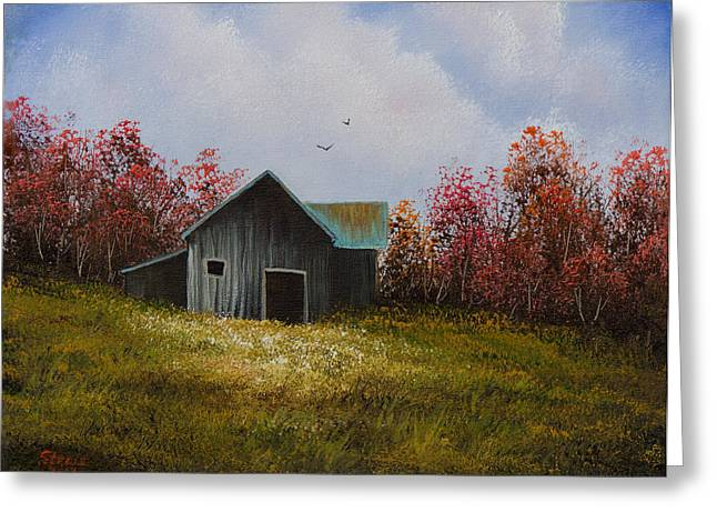 Bob Ross Paintings Greeting Cards - Fall Begins Greeting Card by C Steele