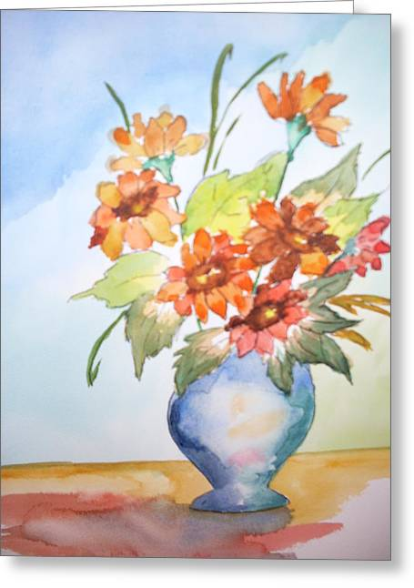 Recently Sold -  - Floral Still Life Greeting Cards - Fall Bouquet Greeting Card by Warren Thompson