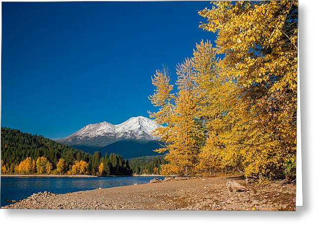 Reflections On Snow Greeting Cards - Fall Color at Siskiyou Lake Greeting Card by Greg Nyquist