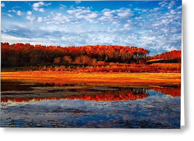 Moonrise Greeting Cards - Fall Color Greeting Card by Sean Kreck