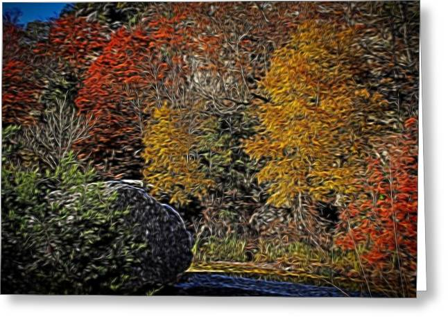 Decorate Greeting Cards - Fall Colors Air Brush Greeting Card by Judy Vincent