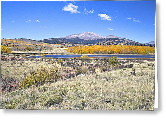 Sking Greeting Cards - Fall colors Fairplay Colorado Greeting Card by James Steele