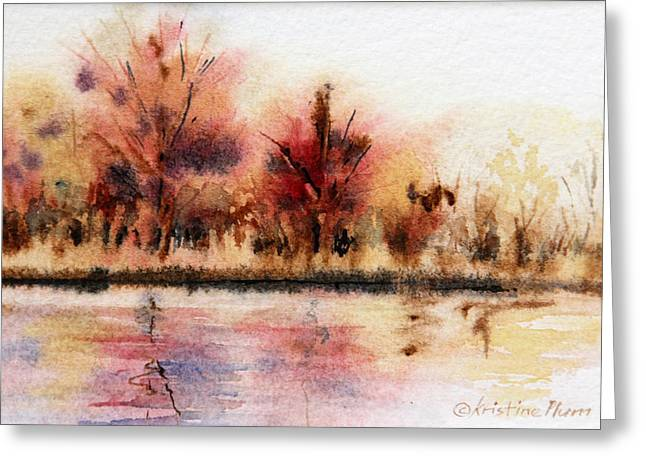 Wet In Wet Watercolor Greeting Cards - Fall Colors Greeting Card by Kristine Plum