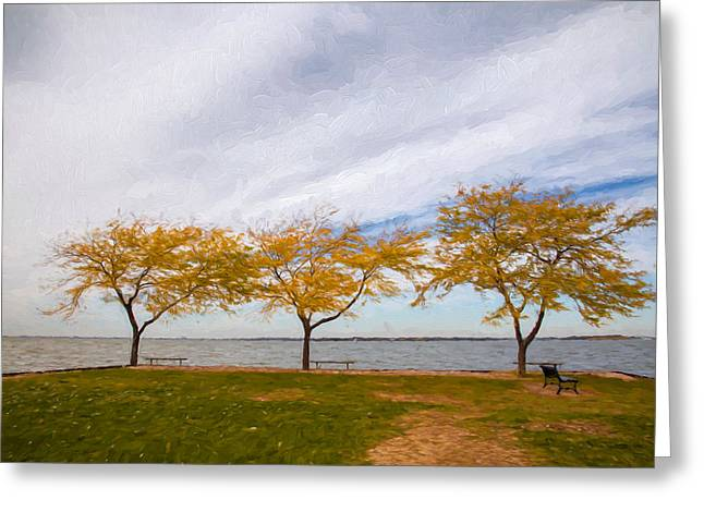 Fall Scenes Greeting Cards - Fall Colors on Lake Erie Greeting Card by John Bailey