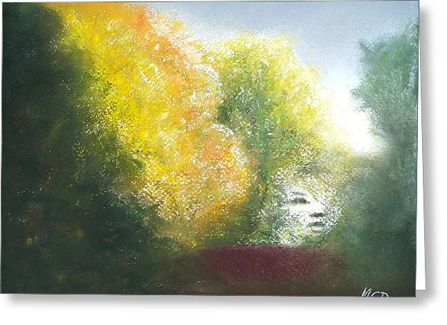 View Pastels Greeting Cards - Fall Created Greeting Card by Marie-Claire Dole