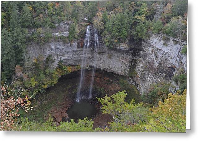 Cane Creek Greeting Cards - Fall Creek Falls Greeting Card by James Potts