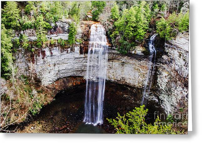 Cane Creek Greeting Cards - Fall Creek Falls Greeting Card by Paul Mashburn