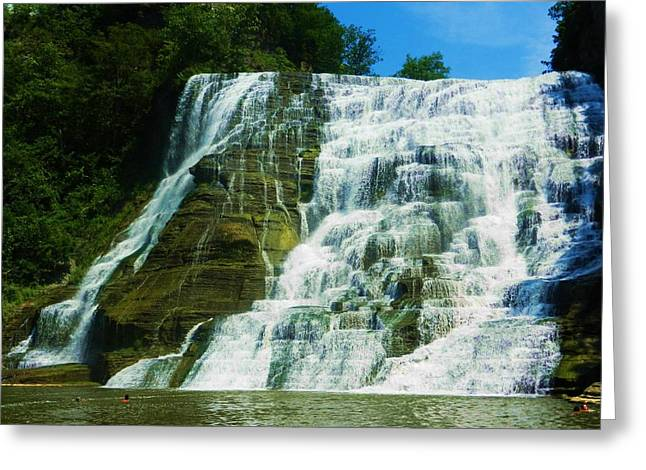 Ithaca Greeting Cards - Fall Creek Greeting Card by Jo-Ann Hayden