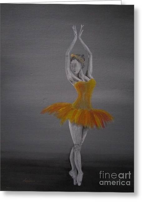 Ballet Greeting Cards - Fall Dancer 2 Greeting Card by Laurianna Taylor