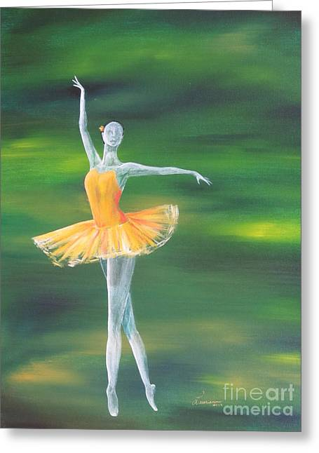 Dancer Greeting Cards - Fall Dancer 3 Greeting Card by Laurianna Taylor