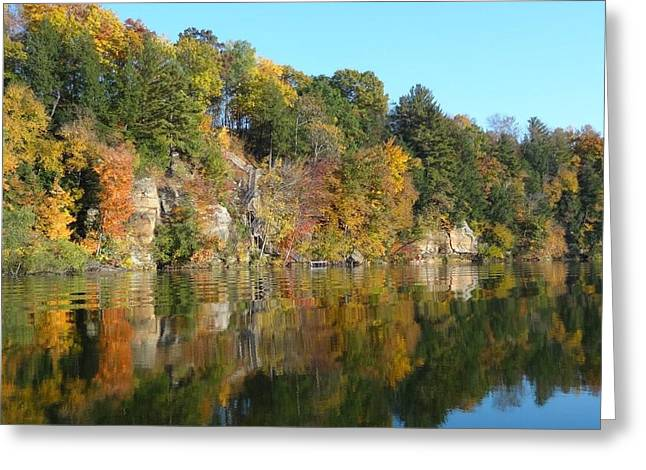 Reflectio Greeting Cards - Fall day with Dad Greeting Card by Stephanie Knutn