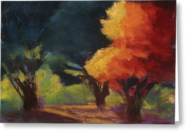 Sonoma Pastels Greeting Cards - Fall Drama Greeting Card by Jennifer Robin
