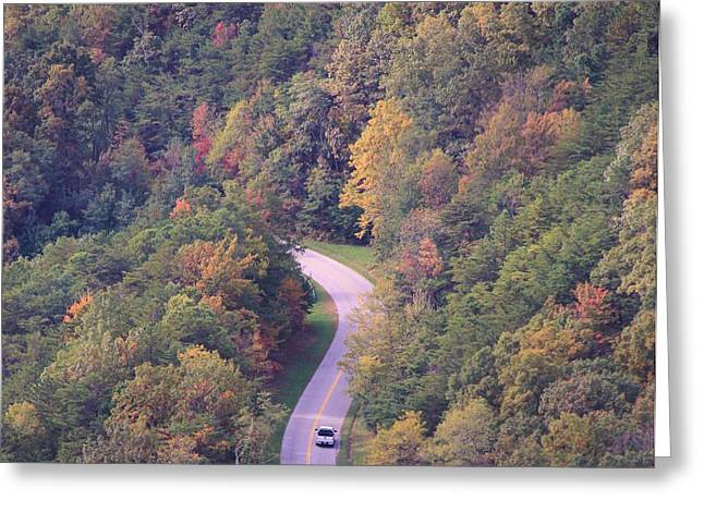Scenic Drive Greeting Cards - Fall Drive In The Smokies Greeting Card by Dan Sproul