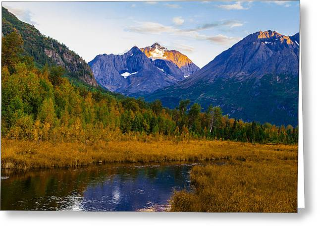 Nature Center Greeting Cards - FAll Eagle River Valley Greeting Card by Kyle Lavey