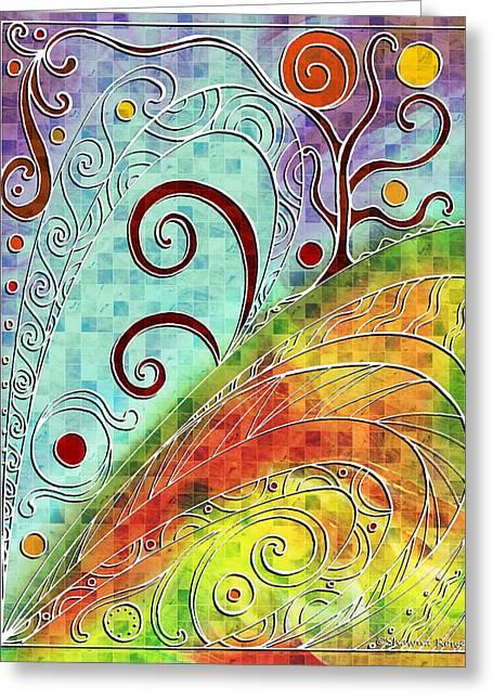 Fall Equinox Greeting Card by Shawna Rowe