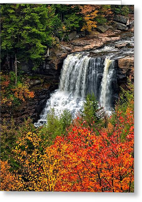 Waterfall Photography Greeting Cards - Fall Falls Greeting Card by Steve Harrington