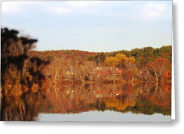 Maine Farmhouse Greeting Cards - Fall Farm Landscape Greeting Card by Mike Breau