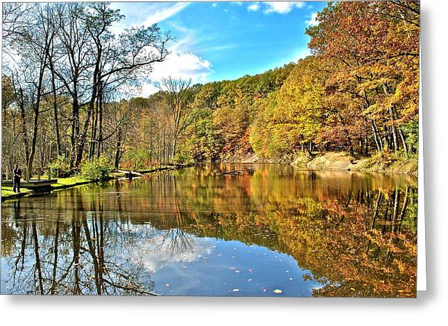 Willow Lake Greeting Cards - Fall Fishing Greeting Card by Frozen in Time Fine Art Photography