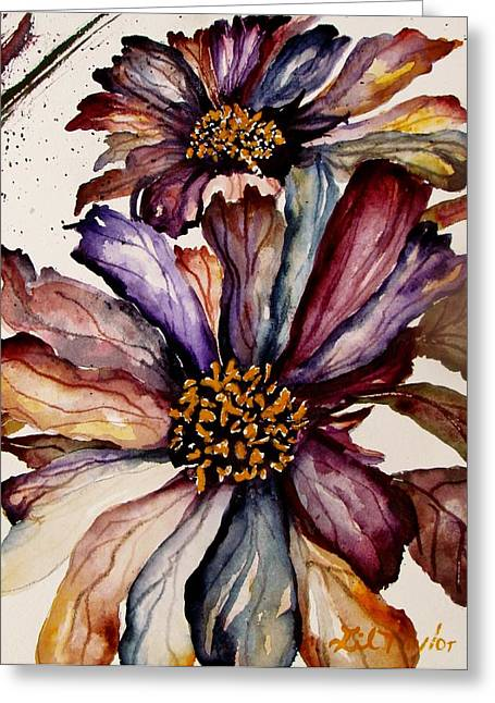 Abstracted Coneflowers Greeting Cards - Fall Flower Colors  Greeting Card by Lil Taylor
