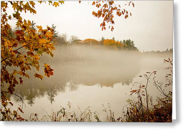 Fall Foggy Day  Greeting Card by Allan Millora