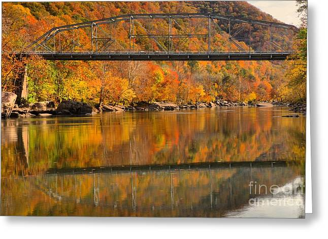 Fayette Greeting Cards - Fall Foliage At Fayette Station Greeting Card by Adam Jewell