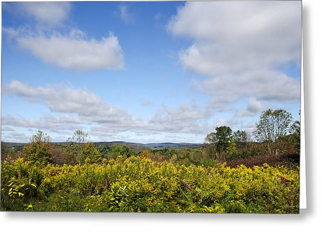 Hilltop Scenes Greeting Cards - Fall Foliage Hilltop Landscape Greeting Card by Christina Rollo