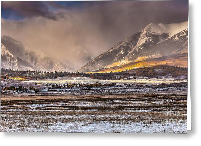 Snow Capped Greeting Cards - Fall Fury Greeting Card by Steven Reed