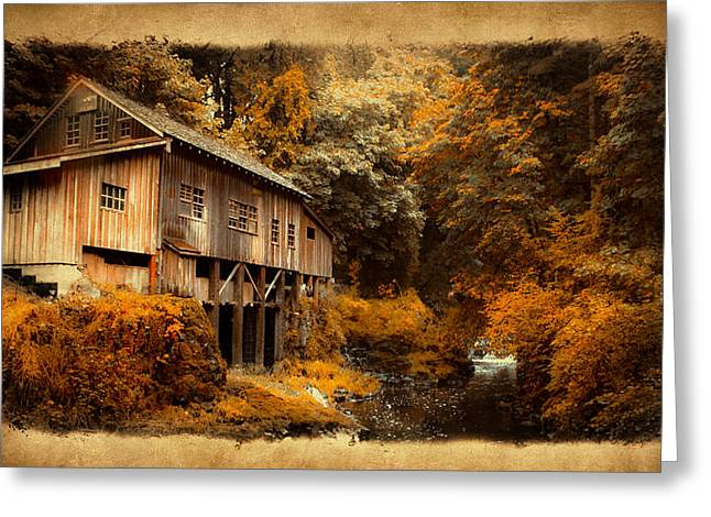 Kinkade Photographs Greeting Cards - Fall Grist Greeting Card by Steve McKinzie