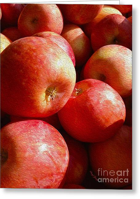 Deli Greeting Cards - Fall Harvest Greeting Card by Cheryl Young