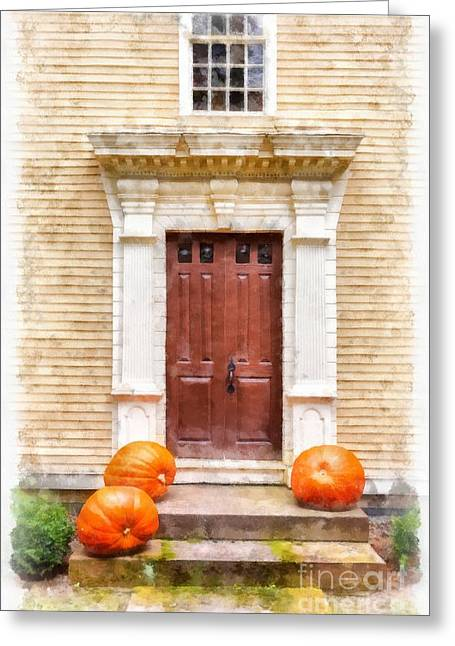 Front Steps Greeting Cards - Fall Harvest Greeting Card by Edward Fielding