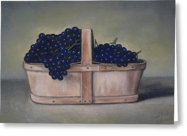 Grape Pastels Greeting Cards - Fall Harvest Greeting Card by Jane Friday