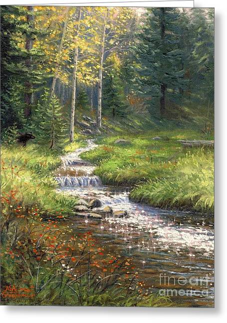 Fall Trees With Stream. Greeting Cards - Fall Has Come Greeting Card by Asa Gochenour
