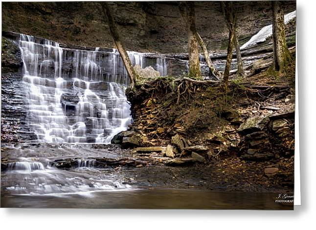 Natchez Trace Parkway Greeting Cards - Fall Hollow Falls Natchez Trace Parkway Tennessee Greeting Card by Joe Granita