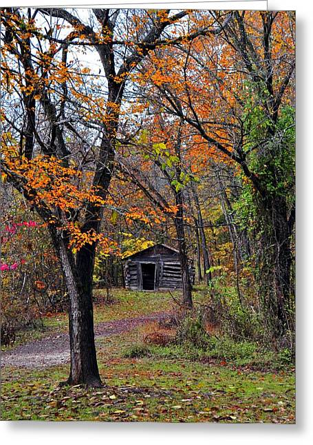 Fall Homestead Greeting Card by Marty Koch