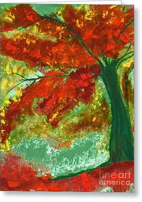 Forest Floor Pastels Greeting Cards - Fall Impression by jrr Greeting Card by First Star Art