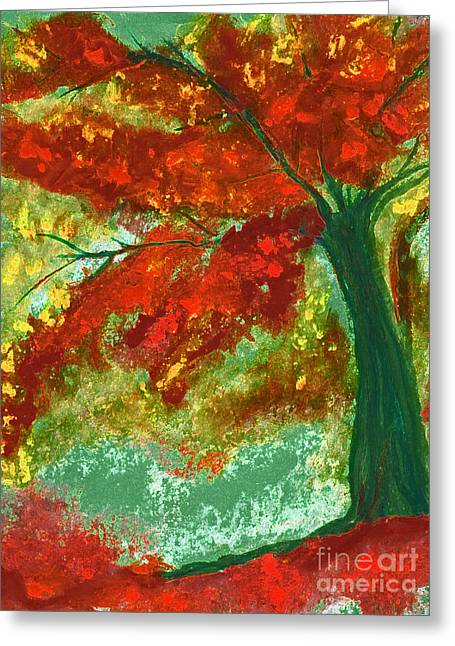 Fall Impression By Jrr Greeting Card by First Star Art