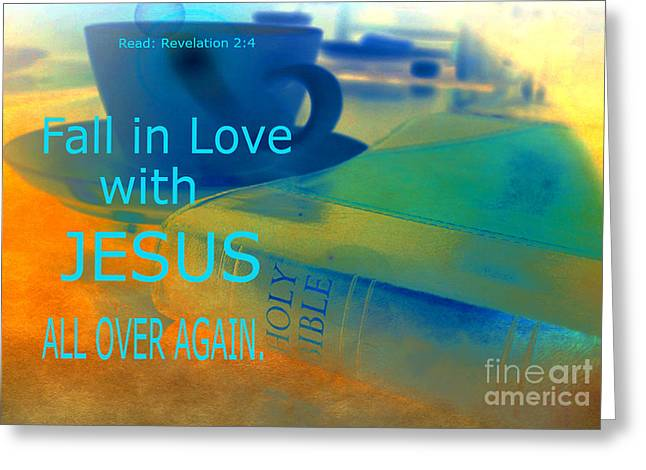 Born Again Greeting Cards - Fall in Love Greeting Card by Beverly Guilliams