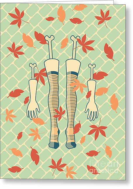 Fall In Love Greeting Card by Freshinkstain